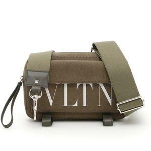 Valentino Gray Rockstud Belt Fanny Wristlet Bag